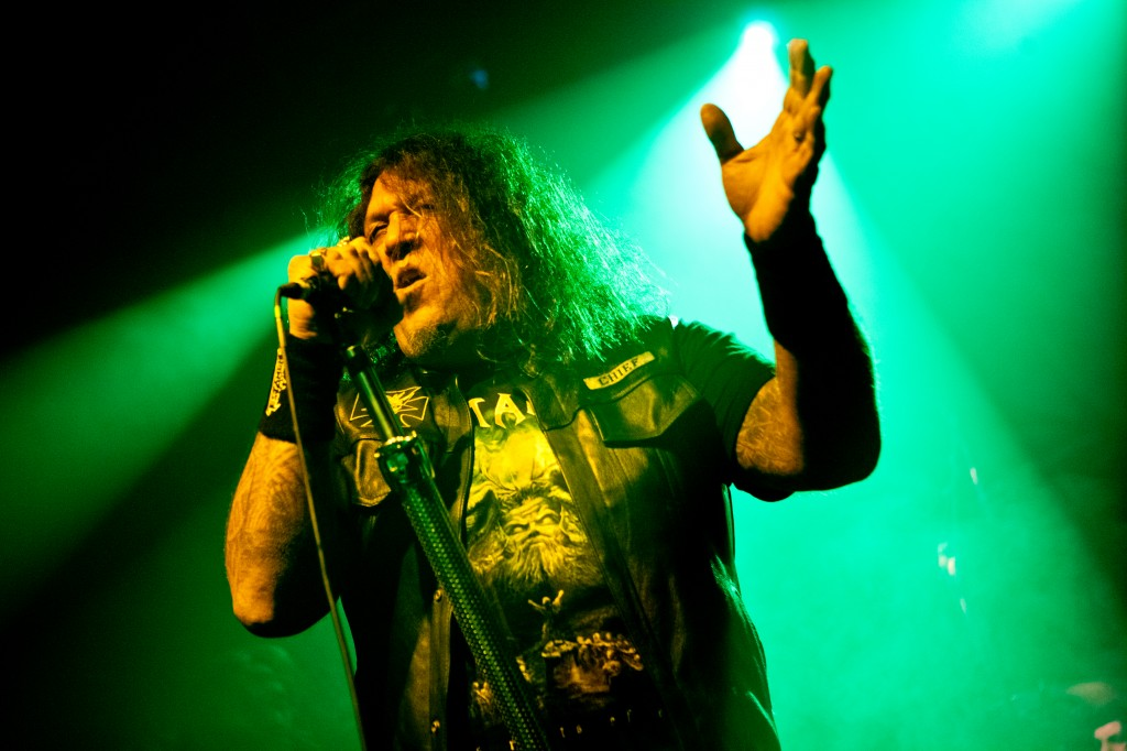 Chuck Billy takes to the KOKO stage