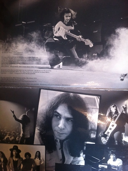Blackmore and Dio inside gatefold of 'Ritchie Blackmore's Rainbow'