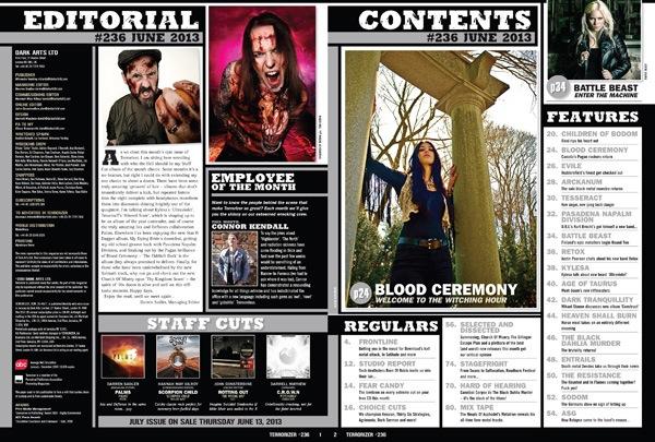 Terrorizer #236 Contents