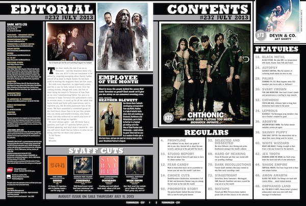 Terrorizer 237 Contents