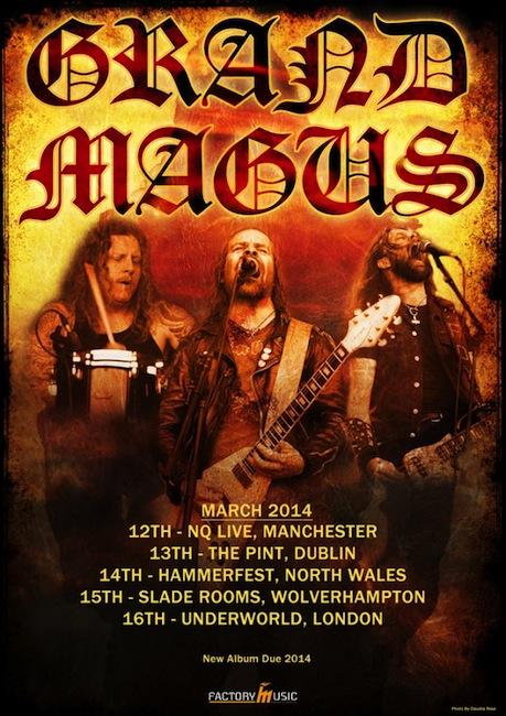 Grand Magus UK Tour 2013