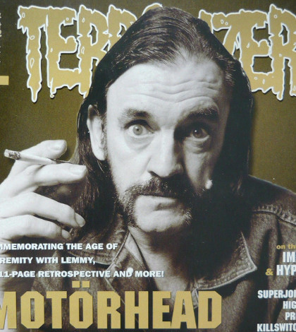 There was only one choice for the cover star of Terrorizer 100