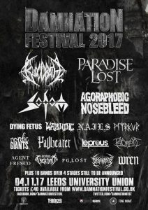 Nails, Disentomb and Wren announced for Damnation 2017